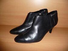 ESPRIT Collection Damen Stiefelette Stiefel Schuhe, Leder, Schwarz, Gr. 39, NEU