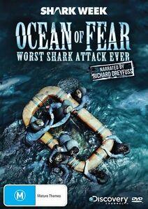 Shark Week - Ocean Of Fear - Worst Shark Attack Ever - New & Sealed Region 4 DVD