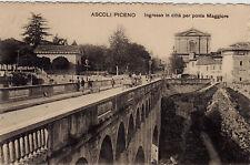 #ASCOLI PICENO: INGRESSO IN CITTA' PER PONTE MAGGIORE
