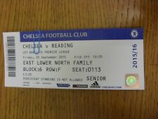 25/09/2015 Ticket: Chelsea U21 v Reading U21  . Thanks for viewing this item, we