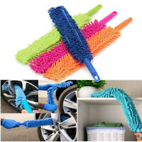 "16"" Extra Long Soft Microfiber 2in1 Flexible Cleaning Brush Wash Car Alloy Wheel"