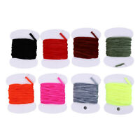 2mFly Fishing Wooly Worm Fly Streamer Fly Tying Chenile Thick 3mm~5mm 8bags/lAmz