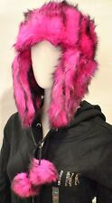 Juicy Couture Faux Fur Hat Trapper Hat Pink New with tag Rare