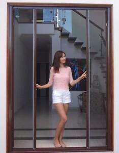 DIY Retractable Door Fly Screen for French Doors 1800W x 2100H Flyscreen Roller