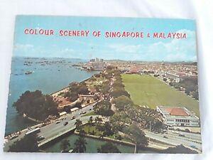 Colour Scenery of Singapore & Malaysia circa 1960 SCARCE! Tourist Souvenir
