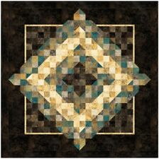 """New Pieced Quilt Pattern Square Dance 53"""" X 53"""""""