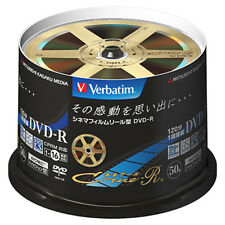 50 Verbatim Blank DVD Discs 4.7GB 16x DVD-R DVDR VHR12JC50SV1 Cine-R Design