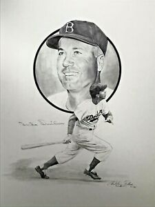 DUKE SNIDER ..Signed Original Artwork  by Christopher Paluso  BROOKLYN DODGERS