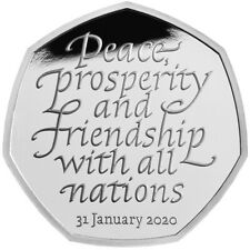 BREXIT 50P COIN. 2020. UNCIRCULATED..