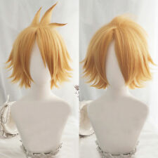 My Boku no Hero Academia Denki Kaminari Short Blonde Layered Cosplay Hair Wig
