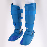 MMA Padded Shin Instep Leg Foot Guard Taekwondo Muay Thai Karate Protector