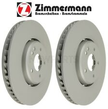 Mercedes A208 C208 W202 W210 Pair Set of 2 Front Vented Brake Discs Zimmermann