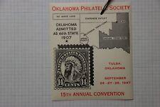 Ops Convention Tulsa Ok Us sc#565 14c Native American Philatelic exhibit 1947 Ad