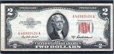 Billete de Estados Unidos 2 dolares  año 1953 circulado