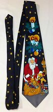 ADOLFO Tie HOLIDAY SEASON CHRISTMAS PARTY SANTA TOYS RED BLUE GOLD WHITE