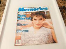 MEMORIES Magazine Feb/Mar 1990 - SOPHIA LOREN!