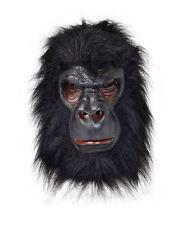 BLACK GORILLA KING KONG MONKEY APE JUNGLE ZOO ANIMAL OVERHEAD MASK