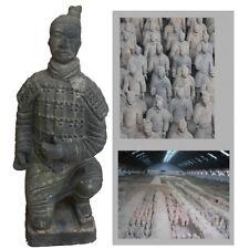 Chinese Terracotta Statue Decoration 26cm Kneeling Position (SQUAT1)