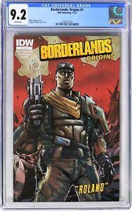 S002. BORDERLANDS: ORIGINS #1 IDW Publishing CGC 9.2 NM- (2012) Origin of ROLAND