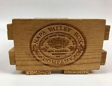 """Napa Valley Box Company  Wooden Cassette Tape Holder Crate 10"""" x 5"""" holds 10"""