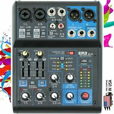 EMB Pro MX06  6 Channel Mixer Console with DSP Digital Effect +48V Phamtom Power