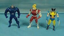 Toy Biz Marvel Die Cast Metal Wolverine Apocalypse Mojo Action Figures.