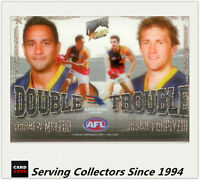 2009 Select AFL Pinnacle Cards Double Trouble DT7 McLeod / Porplyzia (Adelaide)