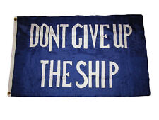 3x5 Embroidered Sewn Commodore Perry Don't Give Up the Ship Nylon Flag 3'x5'