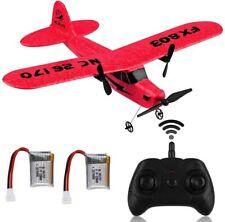 RC Flugzeug 2.4G 2CH Fernbedienung RTF für Erwachsene Kinder Spielzeug Geschenk