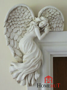Door Frame Angel Wings Wall Sculpture Ornament Garden Home Decor Secret Fairy