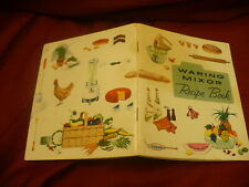 Waring Mixor hand mixer  recipe booklet 1955 copyright  warranty & care #317