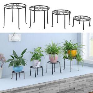 4X Plant Pot Stand Metal Holder Flower Display Shelf Indoor Outdoor Garden Decor