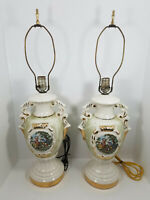 Vintage Porcelain Table Lamps Pair