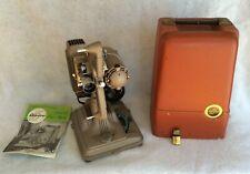 Vintage 1940's-50's 8 Mm Revere Model 85 Film Projector W/ Original Case+ Manual