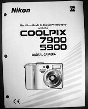 Nikon CoolPix 5900 7900 Digital Camera User Guide Instruction  Manual