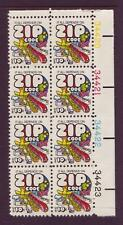 AT FACE VALUE!#1511 ZIP CODE. WHOLESALE LOT OF (10) MINT PLATE BLOCKS. F-VF NH!