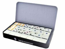 Shine Double Six Color Dot Dominoes Game Set - 28 Double 6 Dominoes Set FREE P&P