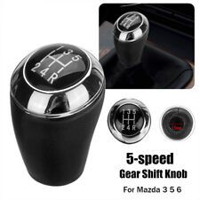 PU Leather 5-Speed Gear Shift Knob For Mazda 3 5 6
