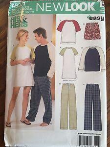 Simplicity Uncut Pattern A6321 Unisex Pajamas Pjs Sleepwear All Sizes