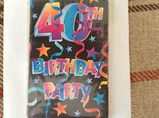 Amscan 40th Birthday Party Inviations pack of 8 with envelopes # 49319