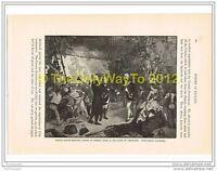 ADMIRAL DUNCAN RECEIVING DE WINTER'S SWORD AT CAMPERDOWN, Book Illust c1870