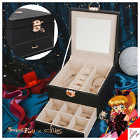 Clue X Saint Tail Jewelry Necklace Earrings Box Package Black-100% Authentic