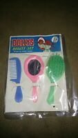 Vintage 1960s Dolly's Beauty Set Dime Store Toy Hong Kong Mirror Brush Comb