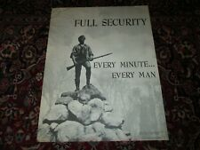 ORIG. POSTER 1964 NSA FULL SECURITY,EVERY MINUTE,EVERY MAN,EDUCATION,COLD WAR,US