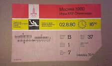 Olympic Games Ticket 1980 Moscow Canoeing Soviet USSR