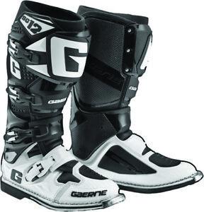 Gaerne SG-12 SG12 Black/White Men Size 8 MX Off Road Dirt Boots - 2174-014-008