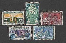 France -Timbres oblitérés - Arts décoratifs - N° 210 à 214- 1924 - TB