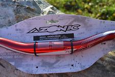 Azonic Agile Handlebar manillar 31.8 rojo metalizado 780mm bike Rise pico de pato