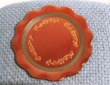 "Scentsy Roma 13"" Decorative Plate Retired Hostess Decor Platter Brown Glazed"