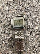 Vintage 1985 Seiko A904-5199 Men's Digital Alarm Chronograph LCD Watch Nice!!!